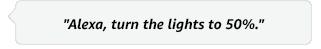 Alexa set the lights to 50 percent