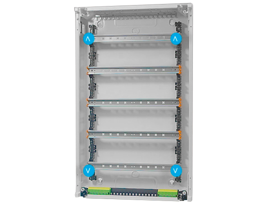 inside Hager Vega D Automation Enclosure suitable for C-Bus large installation