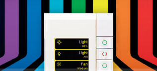 Clipsal by Schneider Electric new eDLT Colour C-Bus Home Automation Switch