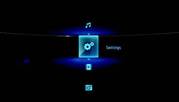 DLNA Media Players Screen Interface