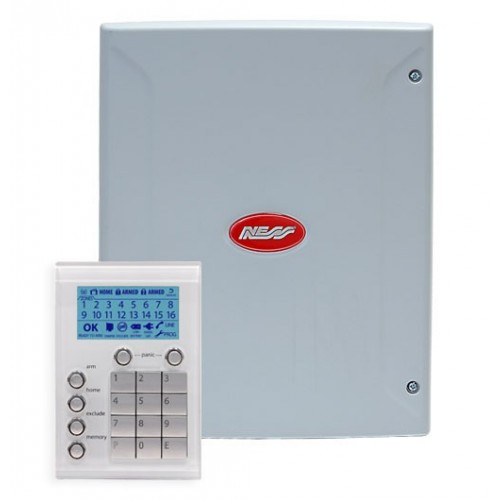 Ness-D16x-Alarm-Panel_with-Saturn-Code-Panel