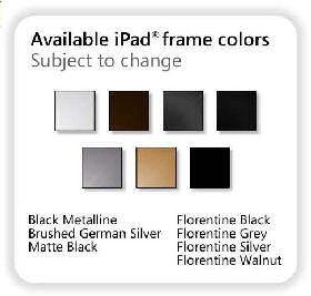 Vidabox iFrame iPad Wall Mount Frame Colour Choices