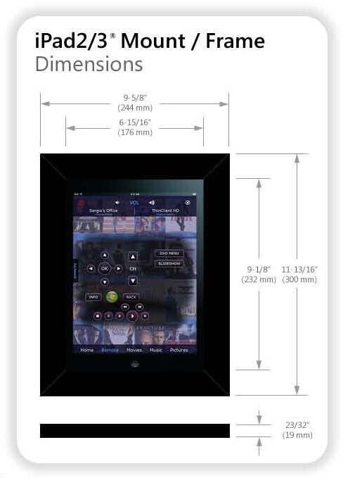 Vidabox iFrame iPad Wall Mount Frame
