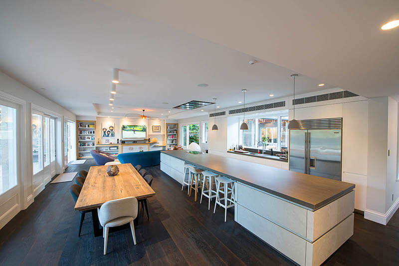 Wahroonga Project - Kitchen and Family Dining Area