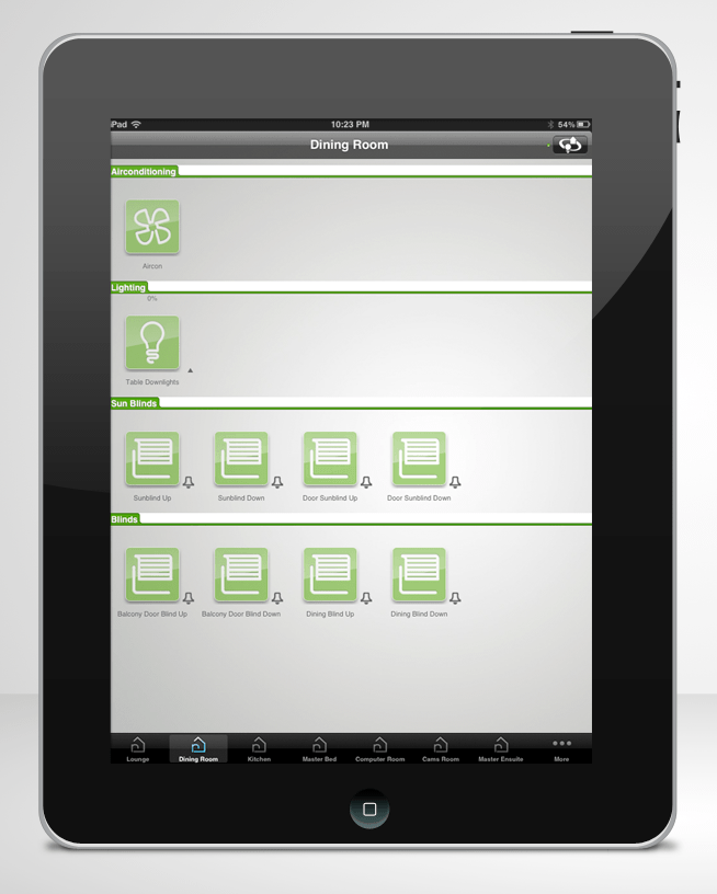 Wiser iPad Home Automation