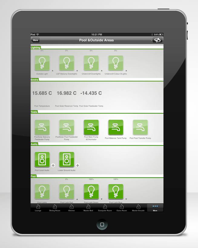 iPad Home Automation with Clipsal Wiser