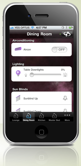Control my home automation with iPhone