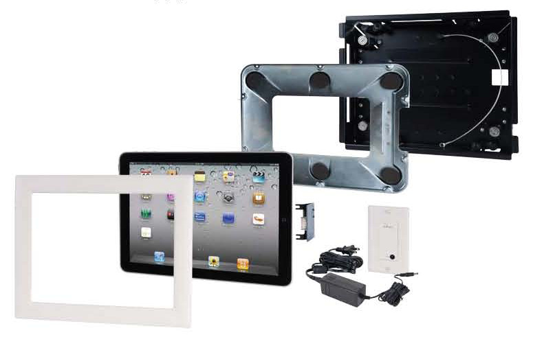 iPort Semipermanent iPad iPad2 Flush Wall Mounts Architectural