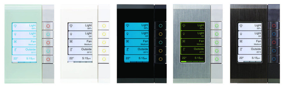 Clipsal C-Bus Enhanced Dynamic Labelling Technology (eDLT) Switchplates