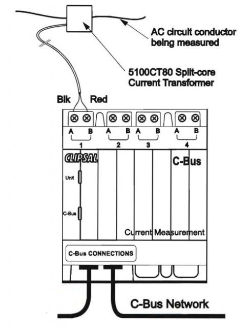 clipsal c-bus energy monitor current measurement unit buy|with|nous, Wiring diagram