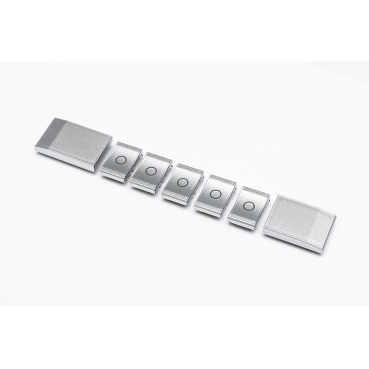 Clipsal Saturn EDLT Replacement Button Pack Stainless Steel look
