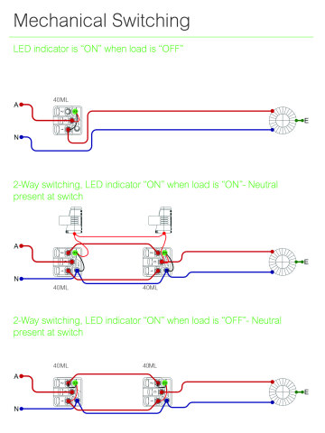 Clipsal Iconic Standard Switching Wiring Details 1