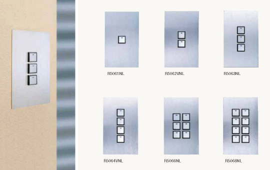 Clipsal Reflection C-Bus switch single width plate range