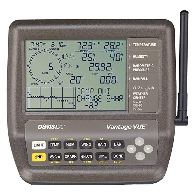 Davis Instruments Vantage Vue Wireless Weather Station Console close up