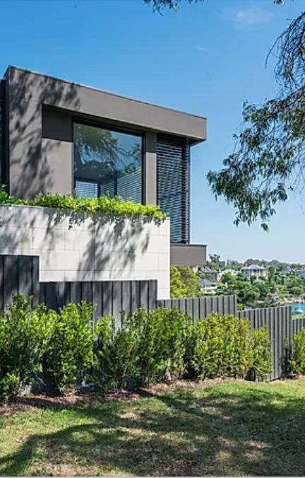 Hunters Hill Project - New Waterfront House  - Streetside Face