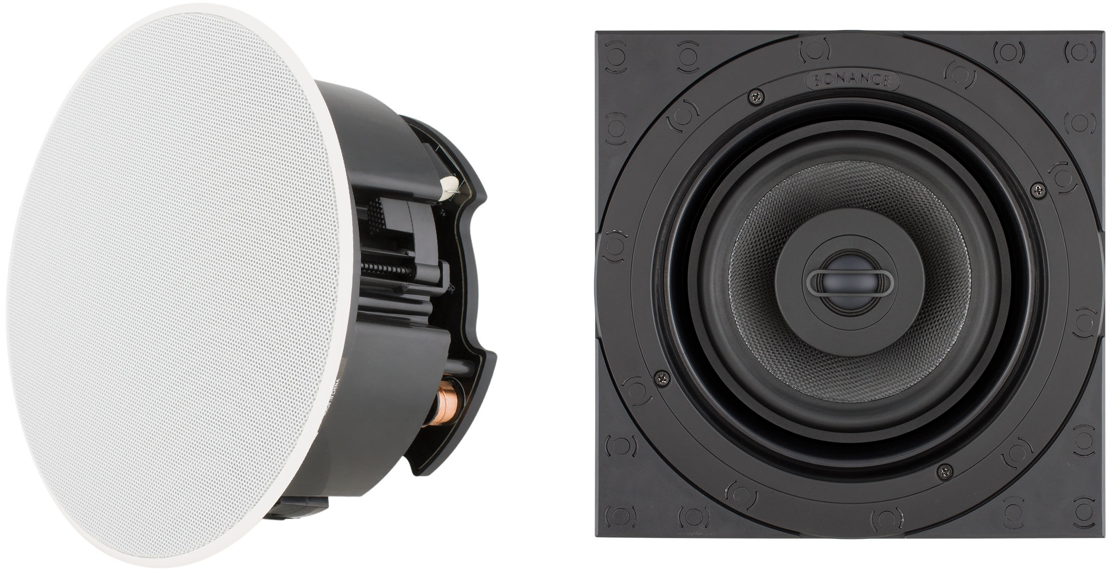 Sonance Medium Round & Square Visual Performance Ceiling and Wall Speakers
